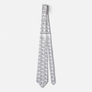 Computer-weiße Tastaturgeek-Krawatte Individuelle Krawatten