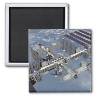 Computererzeugte Ansicht 4 Quadratischer Magnet