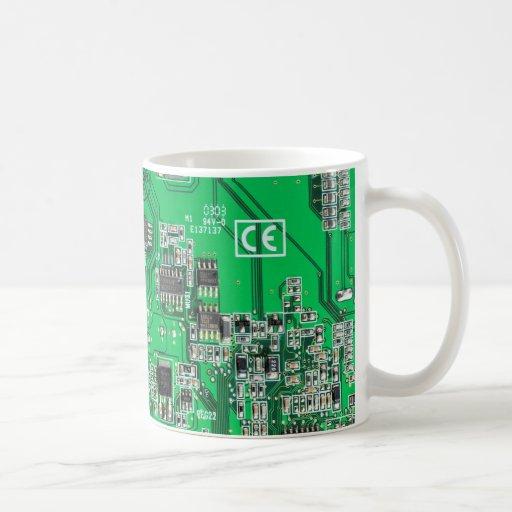 Computergeek-Leiterplatte-Kaffee-Tasse