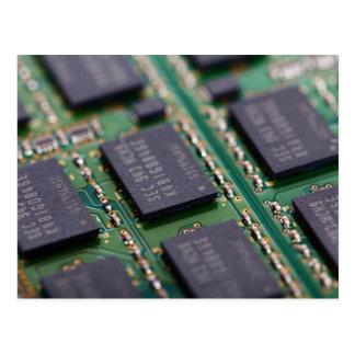 Computerspeicher-Chips Postkarte