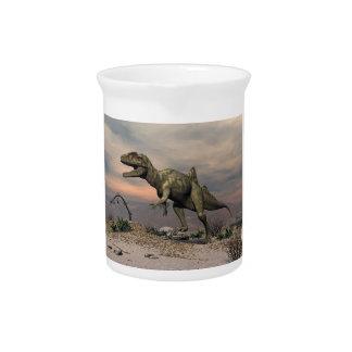 Concavenator Dinosaurier in der Wüste Getränke Pitcher