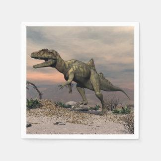Concavenator Dinosaurier in der Wüste Serviette