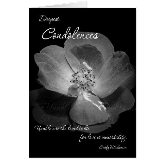Condolences - Immortality Karte