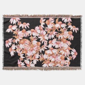 Coneflower Blumen-Vintage botanische mit Decke