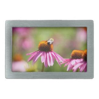 Coneflower und Honig-Biene Rechteckige Gürtelschnalle