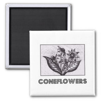 Coneflowers Quadratischer Magnet