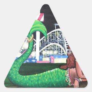 Coney Island-Meerjungfrau Dreieckiger Aufkleber