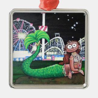 Coney Island-Meerjungfrau Silbernes Ornament