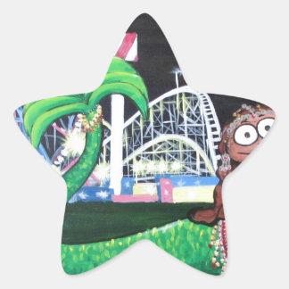 Coney Island-Meerjungfrau Stern-Aufkleber