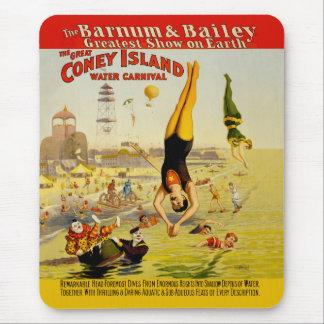 Coney Island-Nebenaufführung-Plakat Mousepad