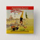 Coney Island-Nebenaufführung-Plakat Quadratischer Button 5,1 Cm