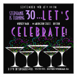 Confetti-Cocktail-Geburtstag Pary Einladung