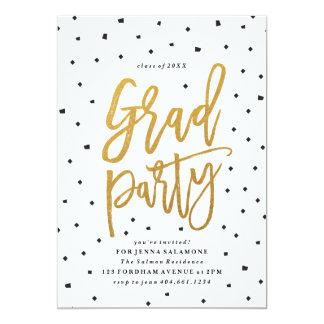 Confetti-Imitatfolien-Abschluss-Party Einladung