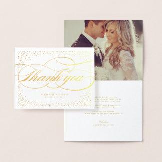 Confetti-Punkt-Rahmen-klassische schicke Hochzeit Folienkarte