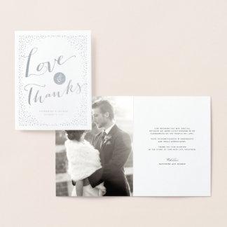 Confetti punktiert Rahmen-moderne Hochzeits-Liebe Folienkarte