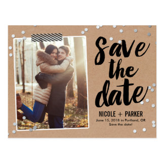Confetti-Save the Date Postkarte