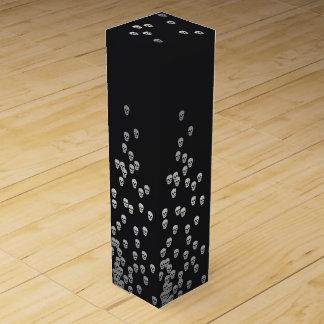 Confetti-Schädel - Nightshade und Silber Weinbox