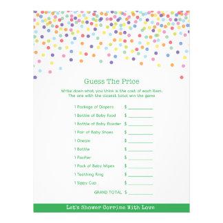 Confetti-Thema-Babyparty-Spiel Flyer