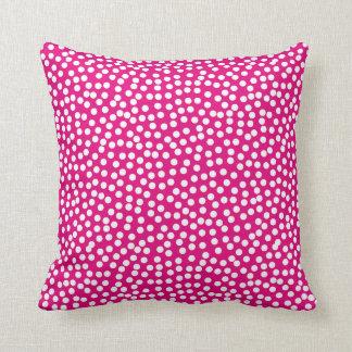 Confetti-Tupfen-Muster-Pink Kissen