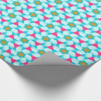 Confetti-Wirbels-Türkis-Blau-rosa Geschenkpapier