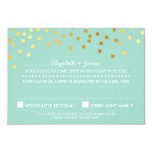 Confettipastellminze Folie DER UAWG-ANTWORT Personalisierte Ankündigungskarte