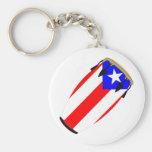 Conga-Flagge Puerto Rico Schlüsselbänder