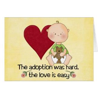 congatulations Adoptionskarte Karte