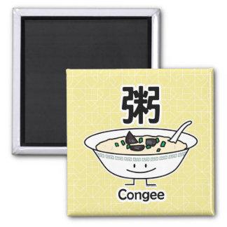 Congee Jook Reisbreimehlsuppen-Schüssel Chinesen Quadratischer Magnet