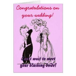 """""""Congrates auf Ihrer Hochzeit! """" Karte"""