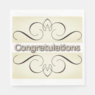 Congrats-Celebrate_Elegant-Cream-Iron-Hearts_Multi Serviette