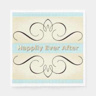 Congrats-Celebrate_Gingham_Cream-Iron-Hearts_Blue Papierservietten