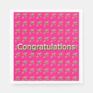 Congrats-Celebrate_Roses-Pink_Gold_Party-Supplies Papierserviette