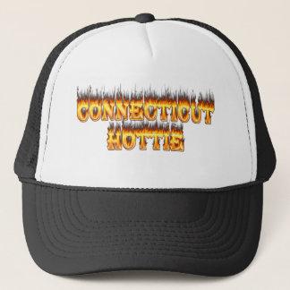 Connecticut hottie Feuer und Flammen Truckerkappe