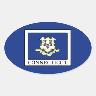 Connecticut Ovaler Aufkleber