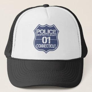 Connecticut-Polizeidienststelle-Schild 01 Truckerkappe