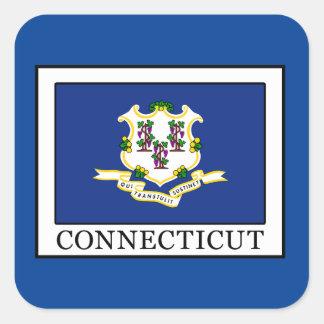 Connecticut Quadratischer Aufkleber