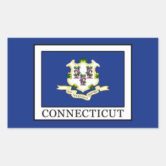 Connecticut Rechteckiger Aufkleber