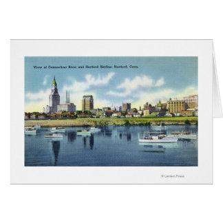 Connecticut River Ansicht der Hartfort Skyline Karte