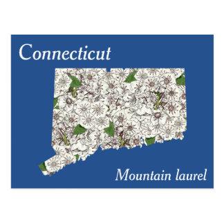 Connecticut-Staats-Blumen-Collagen-Karte Postkarte