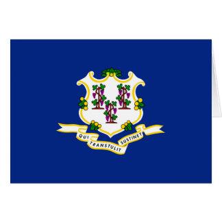 Connecticut-Staats-Flaggen-Entwurf Karte