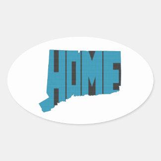 Connecticut-Zuhause-Staat Ovaler Aufkleber
