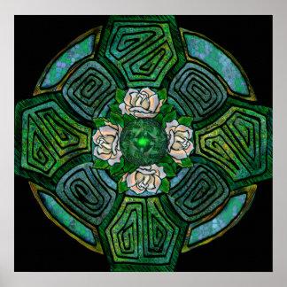 Connemara Kreuz-Druck Plakat