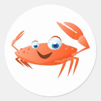 Connor die Krabbe Runder Aufkleber