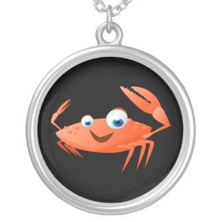 Connor die Krabbe Versilberte Kette