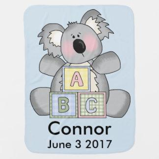Connors personalisierter Koala Babydecke