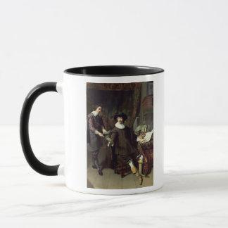 Constantijn Huygens und sein Sekretär, 1627 Tasse