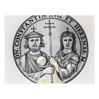 Constantine VI und seine Mutter Irene Postkarte