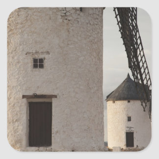 Consuegra, antike La Mancha Windmühlen 2 Quadratischer Aufkleber
