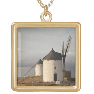 Consuegra, antike La Mancha Windmühlen 3 Halskette Mit Quadratischem Anhänger
