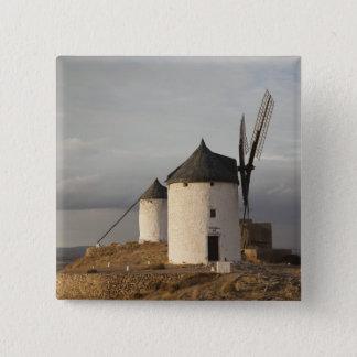 Consuegra, antike La Mancha Windmühlen 3 Quadratischer Button 5,1 Cm